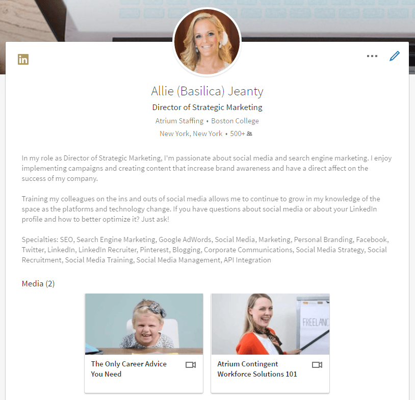 LinkedIn Profile Summary