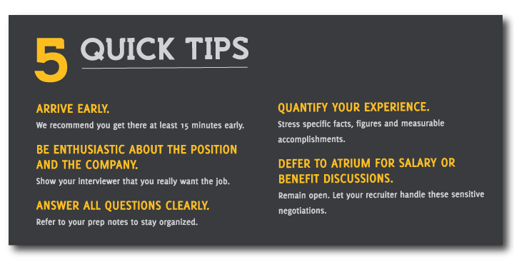 Quick Interview Prep Tips