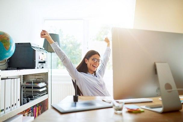 Woman defining success