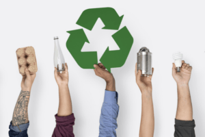5 hands recycling to celebrate #EarthDay and salute the 5 best green companies to work for